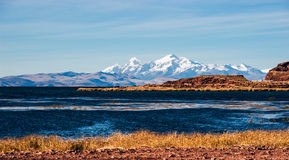 Lake Titicaca from the bolivian side Stock Photography