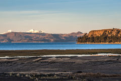 Lake Titicaca from the bolivian side Stock Images