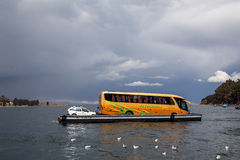 Lake Titicaca Ferry Crossing Royalty Free Stock Images