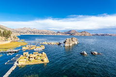 Lake Titicaca Floating Islands Stock Photos