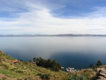 Lake Titicaca Heavens Stock Image
