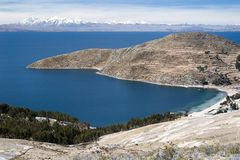 Lake Titicaca i Bolivia Royaltyfri Bild