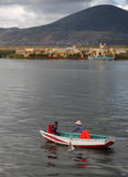 Lake Titicaca in Peru royalty free stock image