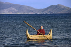 Lake Titicaca Reed Boat - Bolivia - South America Stock Image