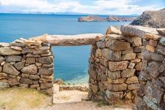 Lake Titicaca Ruins Stock Photo