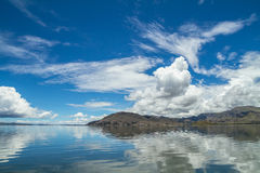 Lake Titicaca and sky reflected Royalty Free Stock Photos