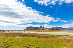Lake Titicaca,South America, located on border of Peru and Bolivia  It sits 3,812 m above sea level Royalty Free Stock Photos
