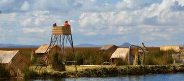 Lake Titicaca watch tower watchers royalty free stock image