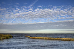 Lake Tjeukemeer in Friesland. Lake Tjeukemeer is the largest lake of the Dutch province Friesland Stock Image