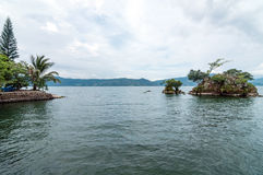 Lake Toba Blossoming Islands. Stock Photos
