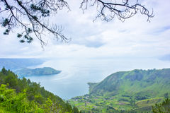 Lake toba countryside Stock Photography