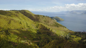 Lake toba or danau toba in Indonesia Royalty Free Stock Image
