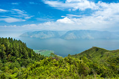 Lake toba or danau toba in North Sumatra Stock Images