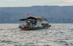 Lake Toba ferry in Sumatra, Indonesia Royalty Free Stock Photo