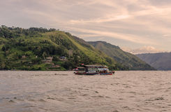Lake Toba ferry in Sumatra, Indonesia Stock Photography