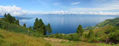 Lake Toba, Indonesia. The Lake Toba is in Indonesia, it is both lake and supervolcano. Lake Stock Image