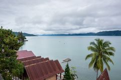 Lake Toba in the Indonesian island of Sumatra Stock Photo
