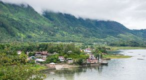 Lake Toba in the Indonesian island of Sumatra Stock Photography