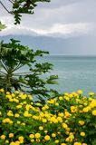 Lake Toba in the Indonesian island of Sumatra. Lake Toba is a large natural lake occupying the caldera of a supervolcano, located in the middle of the northern Stock Photo