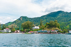 Lake Toba in Parapat Area, Sumatra Stock Photography
