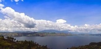 Lake Toba and Samosir Island View. Stock Photo