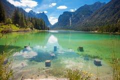 Lake Toblach Stock Image