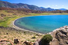Lake Tolbo-Noor. In summer day Royalty Free Stock Photography