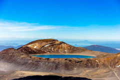 Lake on the tongariro mountain royalty free stock photo