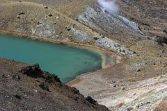 Lake in Tongariro National Park. Emerald Lake in Tongariro National Park in New Zealand Royalty Free Stock Photography