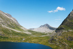 Lake on the top of mountains, Norway Stock Photography