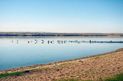 Lake Tore-Khol. Located in the south of Tuva, on the border with Mongolia royalty free stock photo