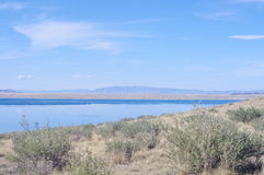 Lake Tore-Khol. Located in the south of Tuva, on the border with Mongolia royalty free stock images