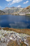 Lake Totensee at Grimsel pass Royalty Free Stock Image
