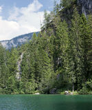 Lake tovel in the dolomites, italy Stock Photos