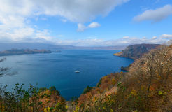 Lake Towada in Autumn, in Aomori and Akita, Japan Stock Photo