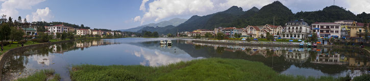 Lake in town centre of Sapa Royalty Free Stock Photography