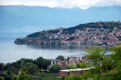 Lake And town Ohrid, Republic Of Macedonia Royalty Free Stock Photos