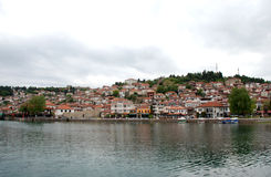 Lake And town Ohrid, Republic Of Macedonia.  Royalty Free Stock Images