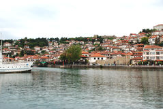 Lake And town Ohrid, Republic Of Macedonia.  Stock Images