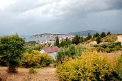Lake And town Ohrid, Republic Of Macedonia Royalty Free Stock Images