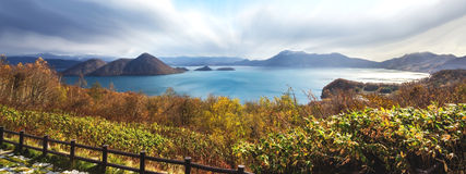 Lake Toya Hokkaido,Japan. The Lake Toya Hokkaido,Japan stock images