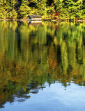 Lake tranquility. Autumn view at alpine lake. Germany, Bavaria Royalty Free Stock Photo