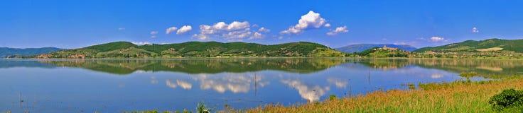 Lake Trasimeno. Panorama of Lake Trasimeno in Italy near Perugia Royalty Free Stock Photos