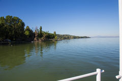 Lake Trasimeno. View of Lake Trasimeno on a clear day Stock Images