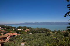 Lake Trasimeno. View of Lake Trasimeno on a clear day Stock Photography