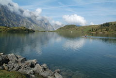 Lake of Trübsee at Engelberg Royalty Free Stock Image