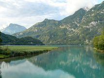 Lake Tre comuni (Cavazzo lake) - Italy Stock Photos