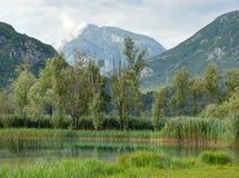 Lake Tre comuni (Cavazzo lake) - Italy Stock Photo