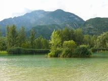 Lake Tre comuni (Cavazzo lake) - Italy Royalty Free Stock Photo