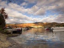Lake Tremblant. Fall season at Lake Tremblant royalty free stock photos